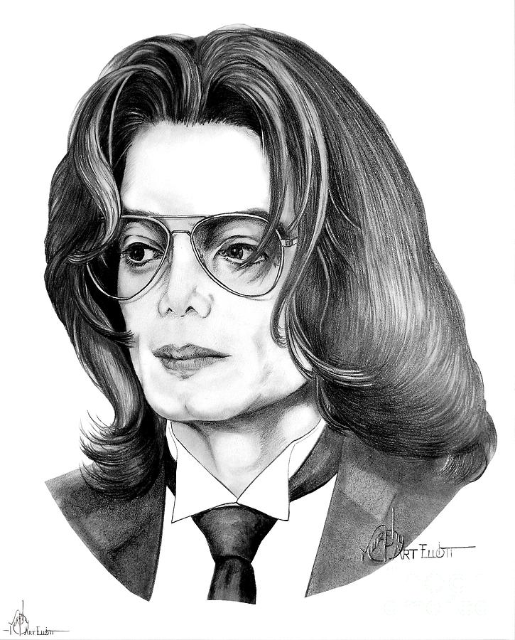 Michael Jackson Drawing - Michael Jackson by Murphy Elliott