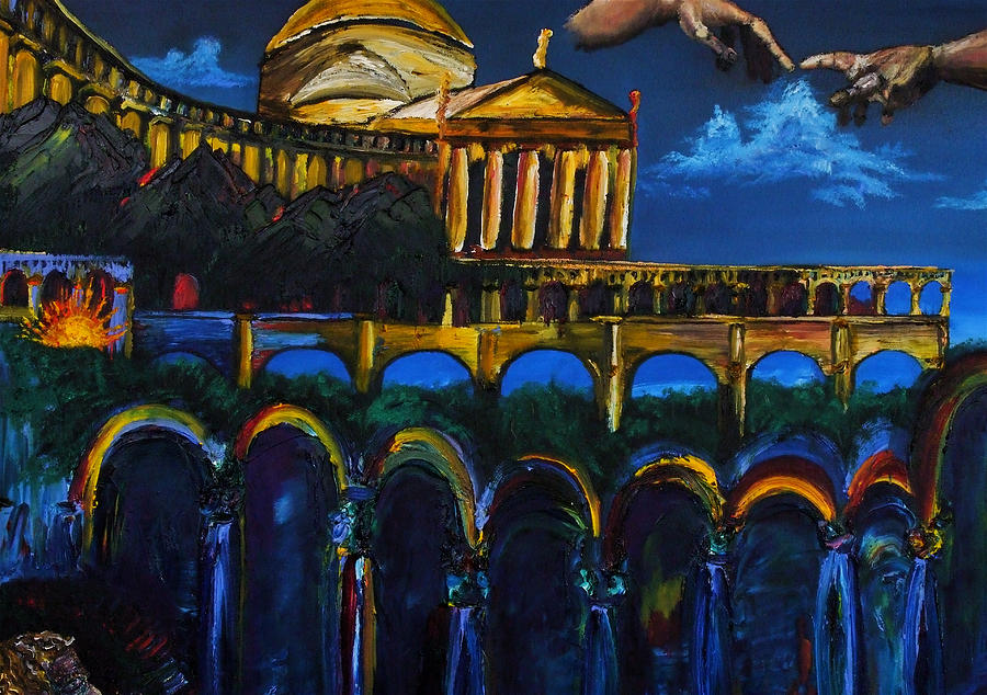 Michaelangelo Painting - Michaelangelo Arches Vatican by Gregory Allen Page