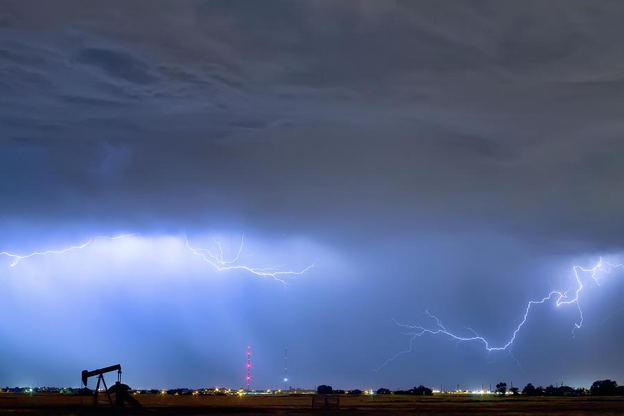 Michelangelo Lightning Strikes Oil Photograph