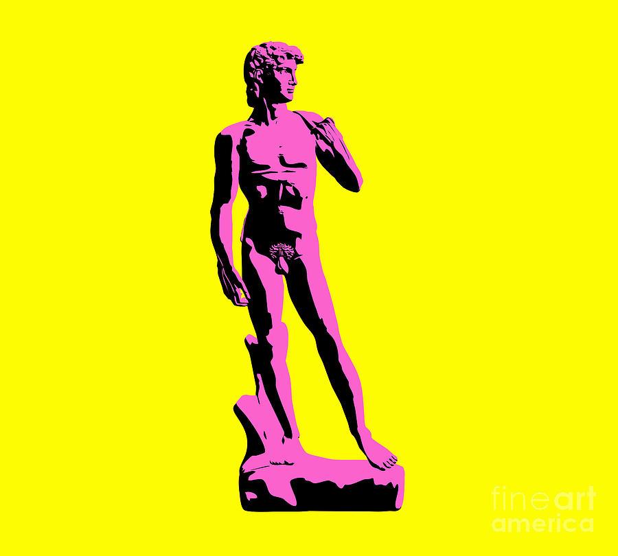 Michelangelo Sculpture - Michelangelos David - Punk Style by Pixel Chimp