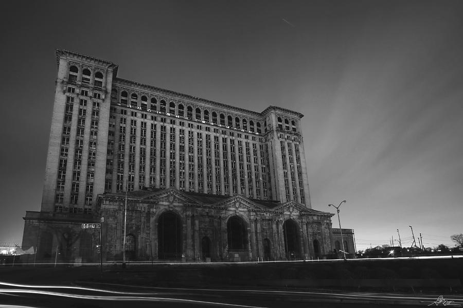 Detroit Photograph - Michigan Central Station At Midnight by Gordon Dean II