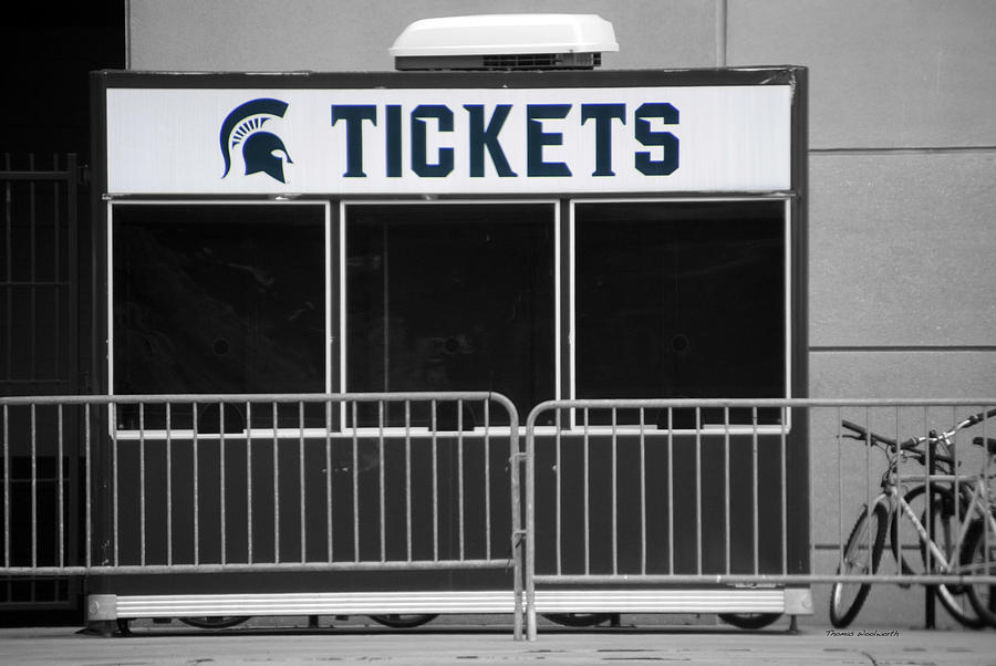 Michigan State University Tickets Booth Sc Signage