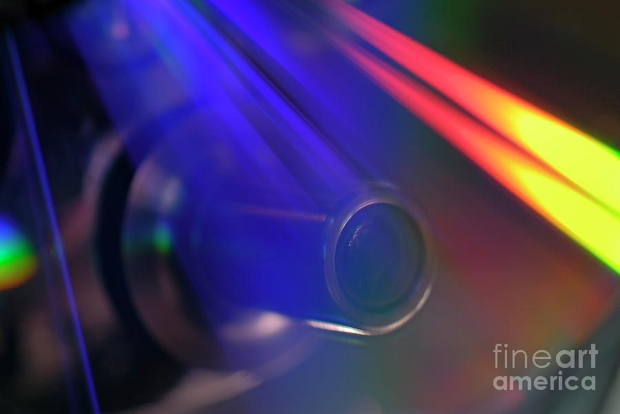 Microscope Lens And Light Beams Photograph