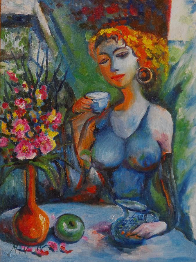 Surreal Painting - Midday Tea by Min Wang