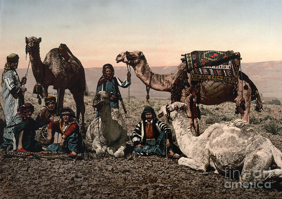 1890s Photograph - Middle East: Travelers by Granger
