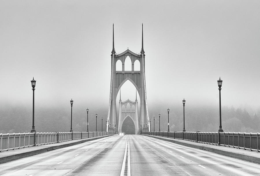 Middle Of Bridge Photograph