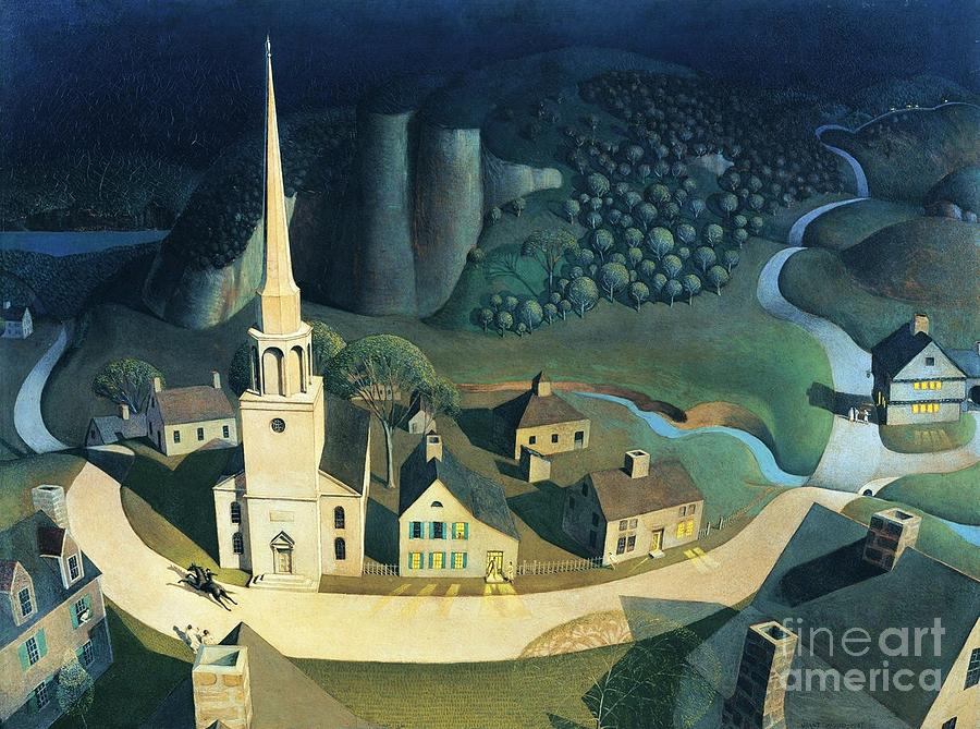 Pd Painting - Midnight Ride Of Paul Revere by Pg Reproductions
