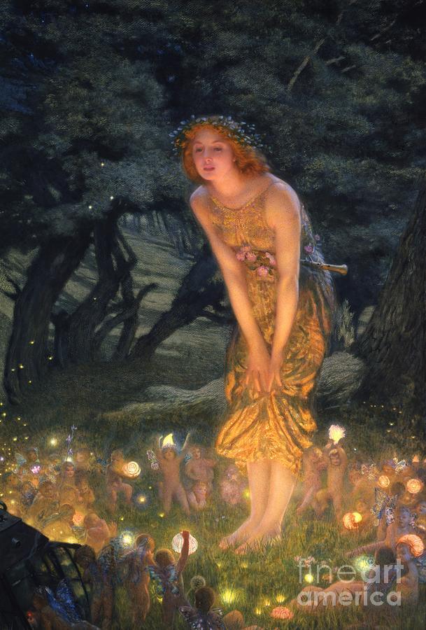 Pre Raphaelite Painting - Midsummer Eve by Edward Robert Hughes