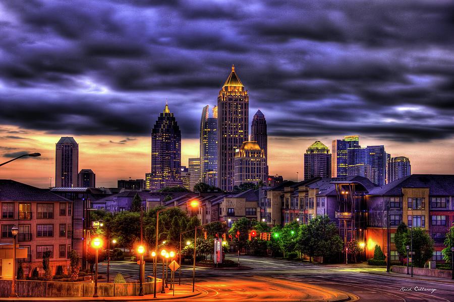 Reid Callaway Midtown Atlanta Art Photograph - Midtown Atlanta Towers Over Atlantic Commons by Reid Callaway