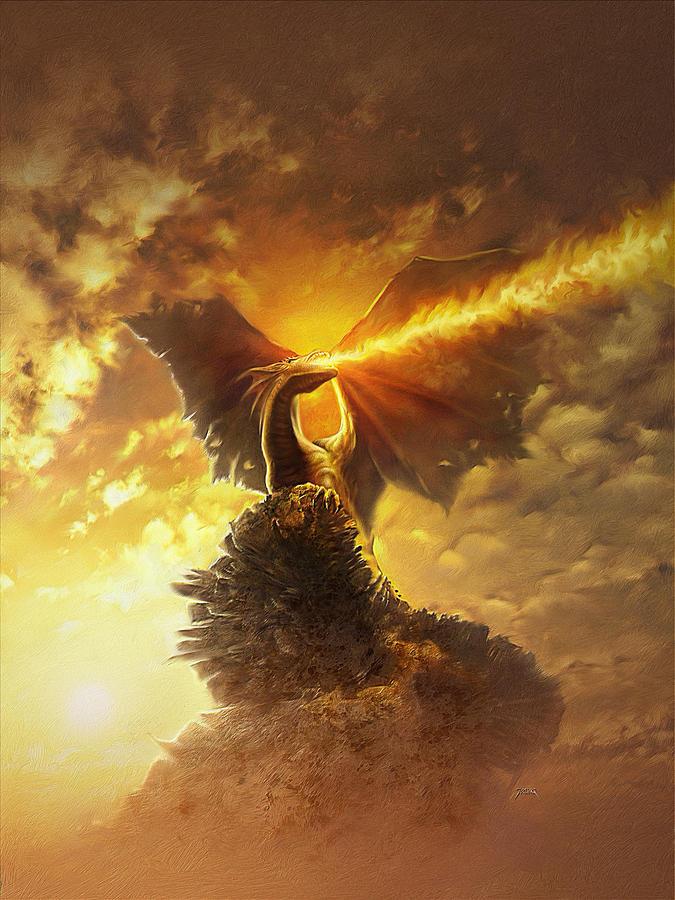Mighty Dragon Digital Art