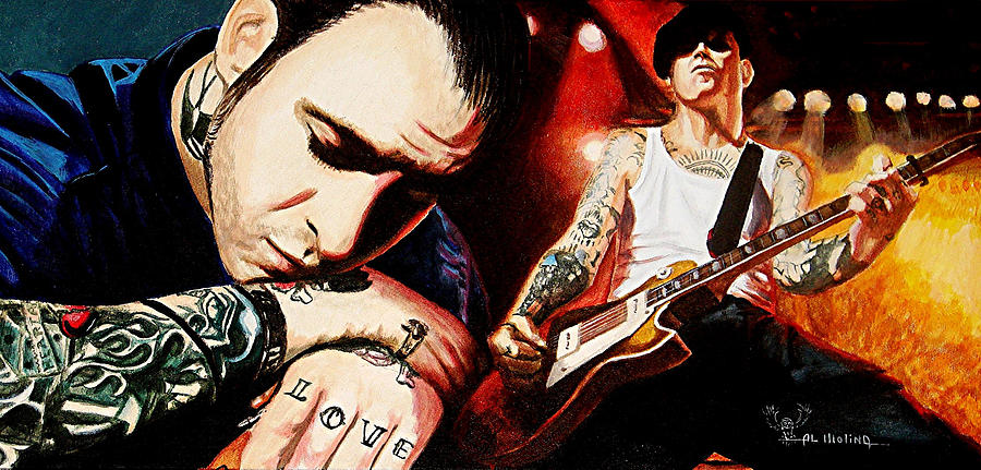 Social Distortion Painting - Mike Ness nuff Said by Al  Molina