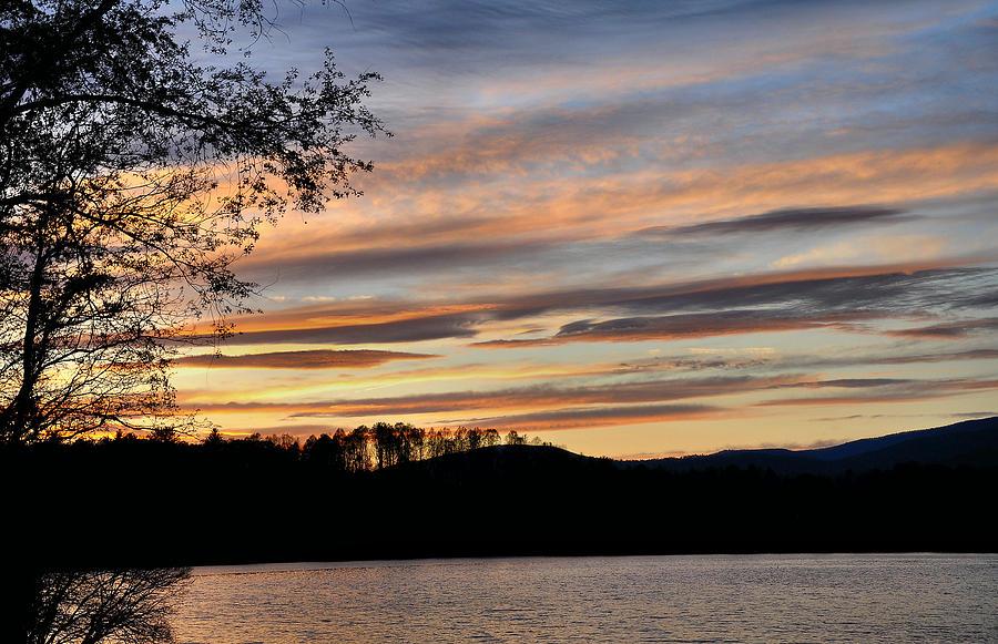 Mill Creek Lake Photograph - Mill Creek Lake Sun Set by Todd Hostetter