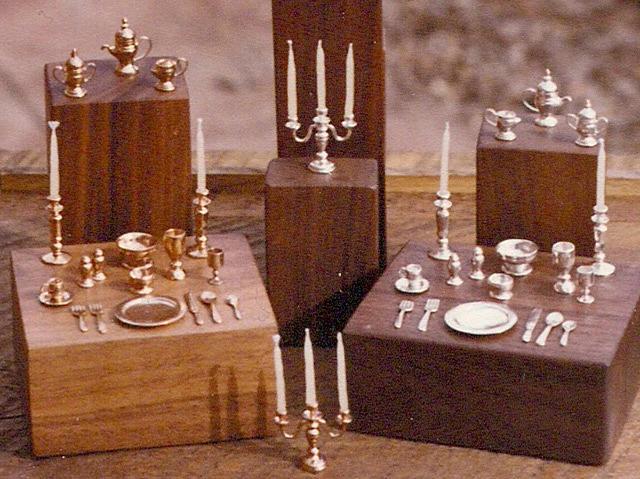 Handmade Jewelry - Miniature Tableware For Dollhouse Collectors by Eddie Romero