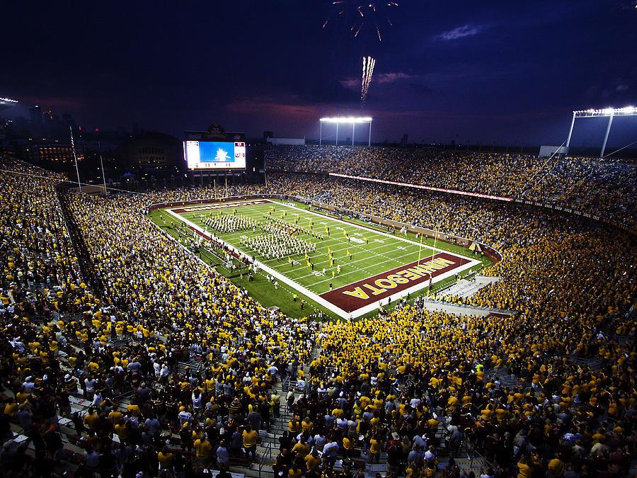 Tcf Bank Stadium Photograph - Minnesota Tcf Bank Stadium by University of Minnesota