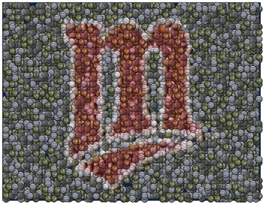Minnesota Twins Mixed Media - Minnesota Twins Baseball Mosaic by Paul Van Scott
