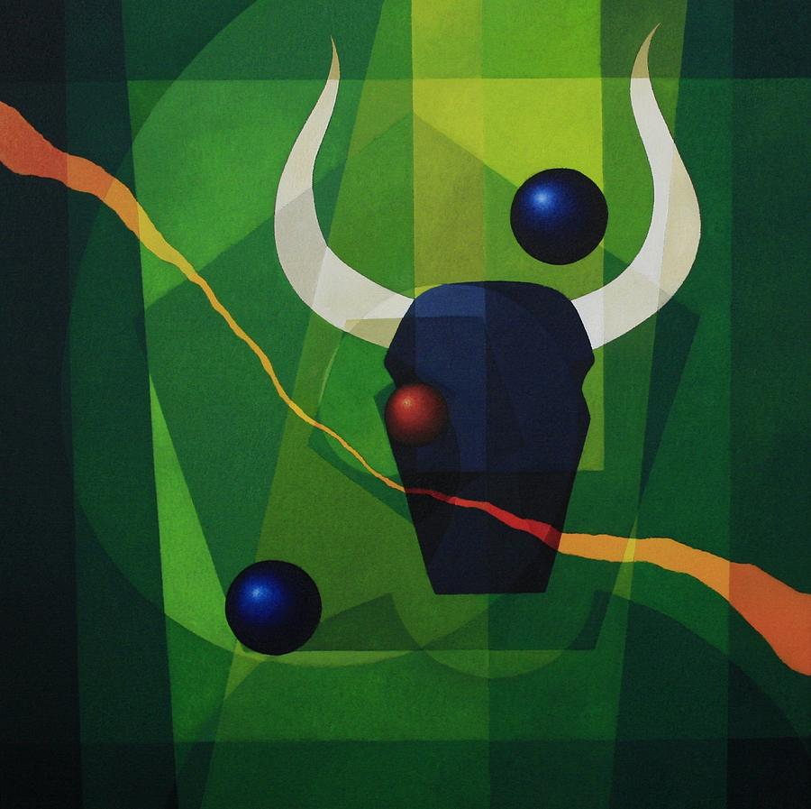 Abstract Painting - Minotaur - II by Alberto D-Assumpcao