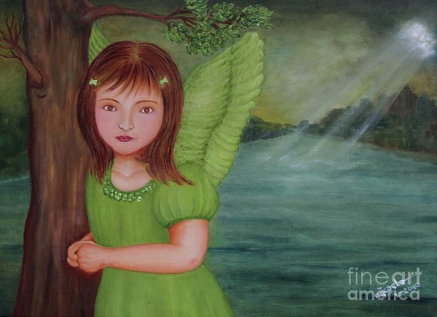 Angel Painting - Miracle by Desiree Micaela