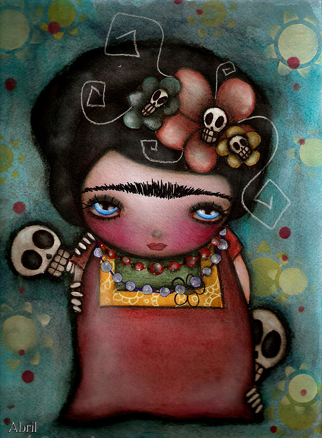 Day Of The Dead Painting - Mis Amigos by  Abril Andrade Griffith