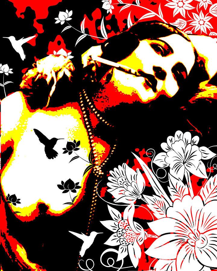 Nostalgic Seduction Digital Art - Mischievious Hummingbird by Chris Andruskiewicz