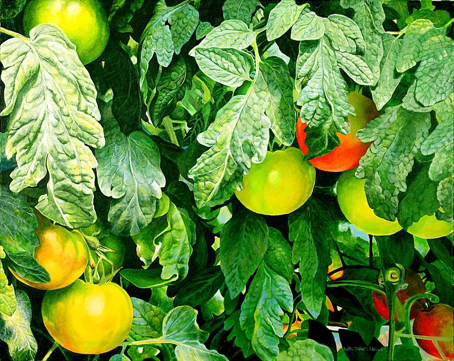 Tomatos Painting - Miss Emilys Tomato Farm by Bethany Windham Engle