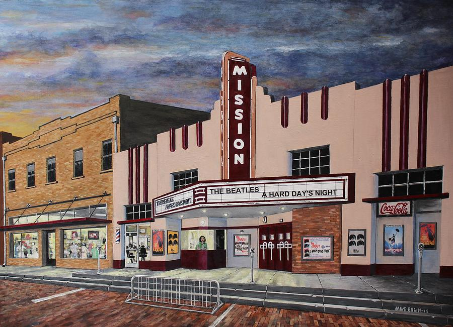 mission theater painting by michael elliott