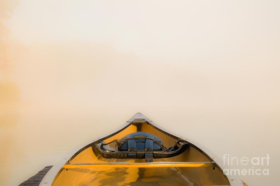 Canoe Photograph - Mist by Chris Mason