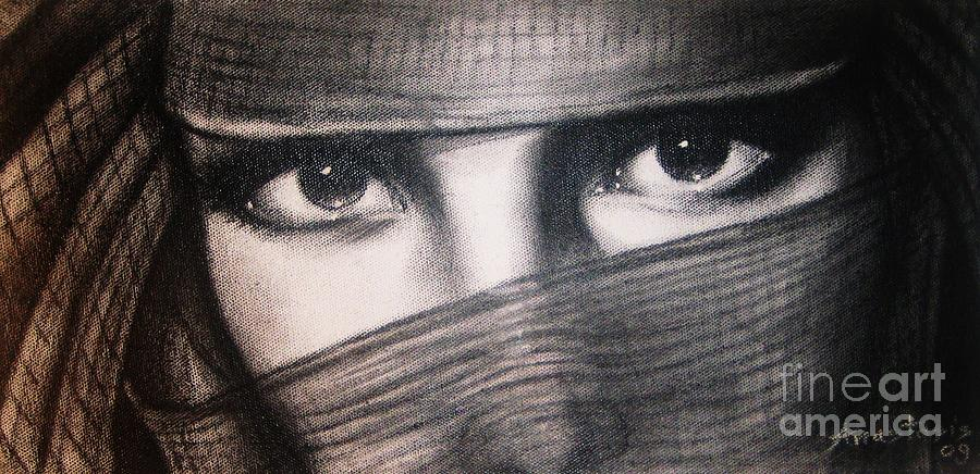 Veil Painting - Mistic Eyes by Anastasis  Anastasi