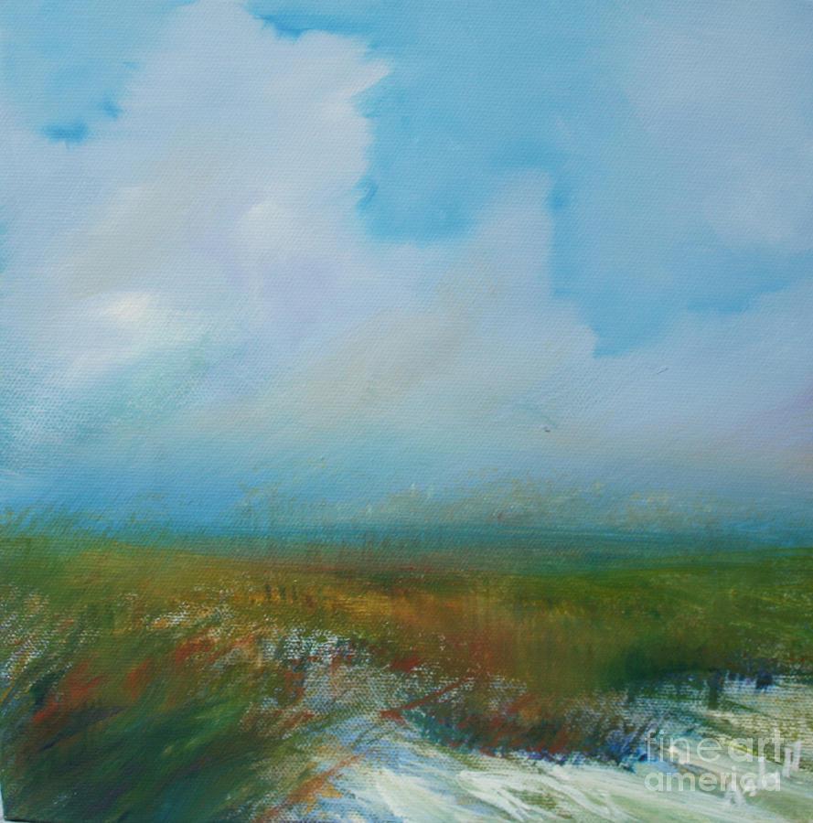 Misty Marsh Painting
