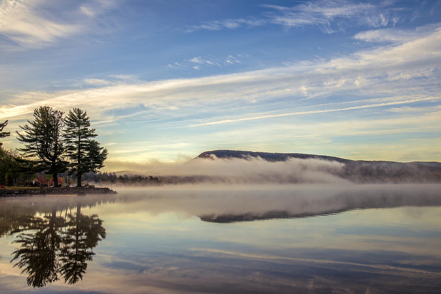 Speculator Lake Photograph - Misty Morning by Mark Papke