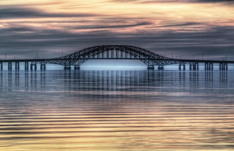 Misty Photograph - Misty Reflective Sunrise by Vicki Jauron