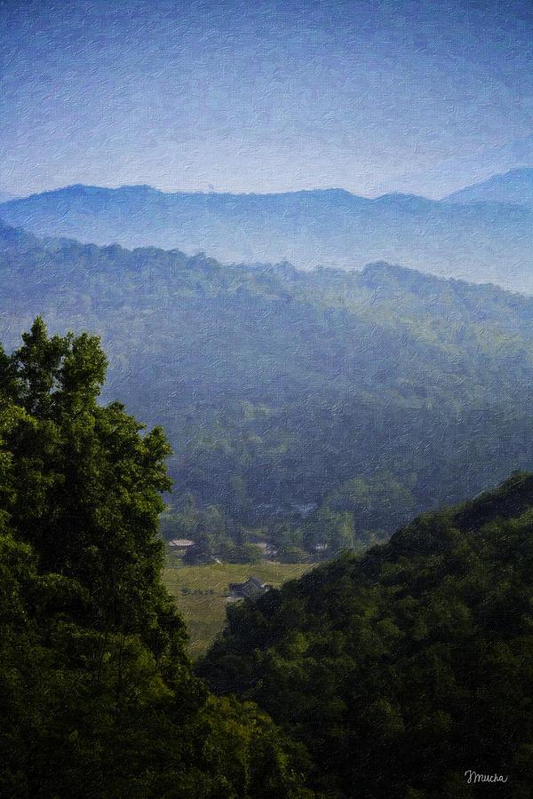 Virginia Painting - Misty Virginia Morning by Teresa Mucha