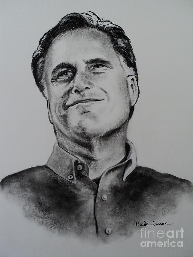 Mitt Romney Drawing - Mitt Romney by Carla Carson