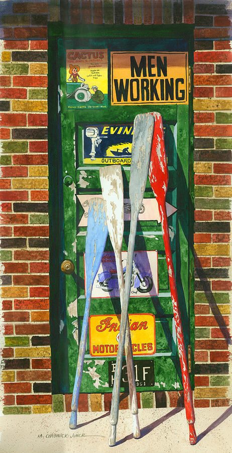 Garage Painting - Mix Oar Match by Marguerite Chadwick-Juner