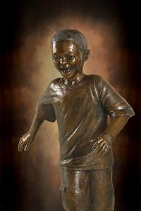 African American Sculptures Sculpture - Mixed Race Boy by Tom White