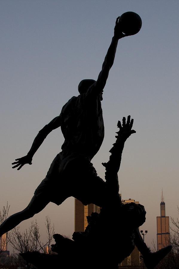 Chicago United Center Mj Micheal Jordan 23 Dark Basketball Photograph - MJ by Andrei Shliakhau