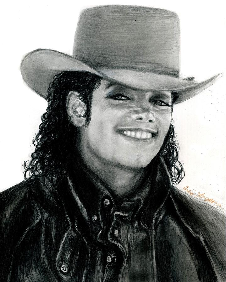 Michael Jackson Drawing - Mj Ranch Style by Carliss Mora