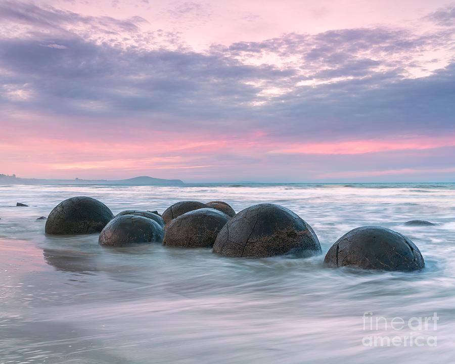 Landscape Photograph - Moeraki Boulders At Sunset - New Zealand by ...