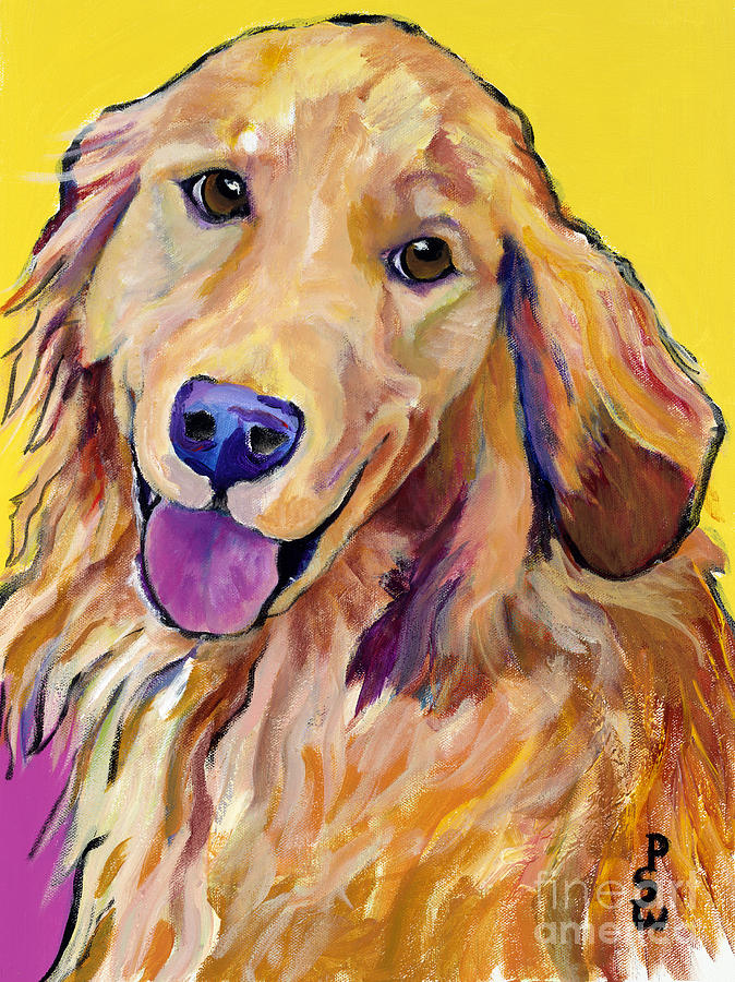 Acrylic Paintings Painting - Molly by Pat Saunders-White