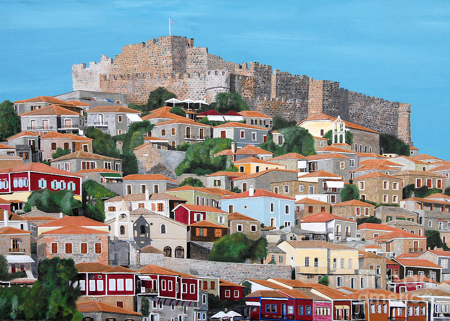 Molyvos Lesvos Greece Painting by Eric Kempson