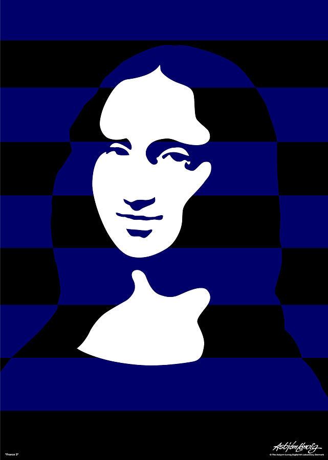Mona Lisa Digital Art - Mona Lisa by Asbjorn Lonvig