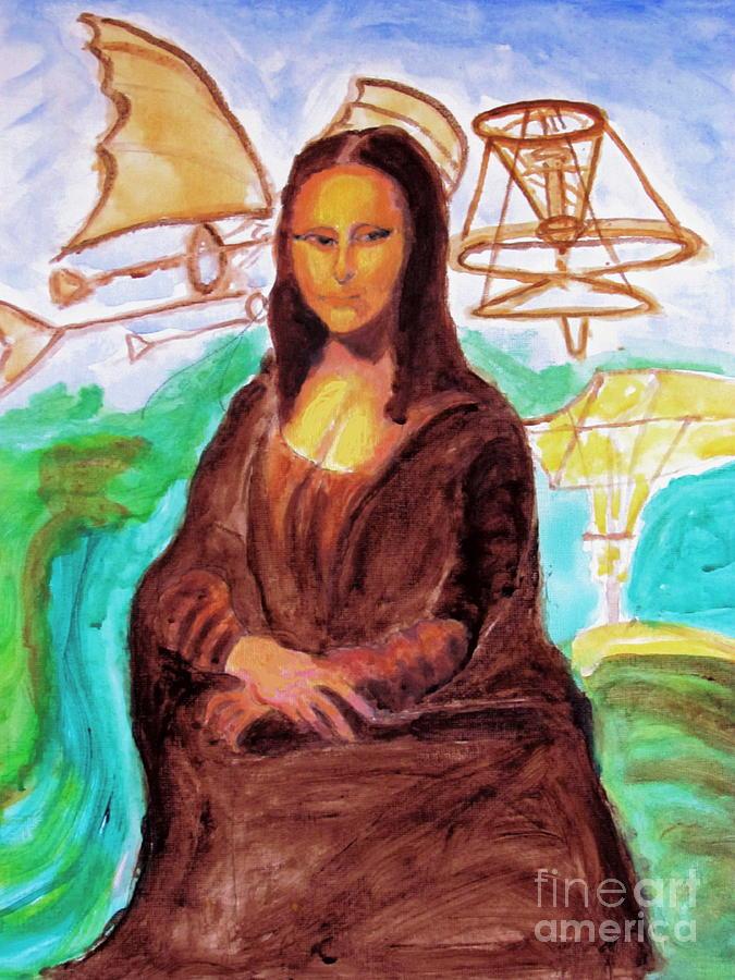 Mona Lisa Tribute To Leonardo Da Vinci Painting By Stanley