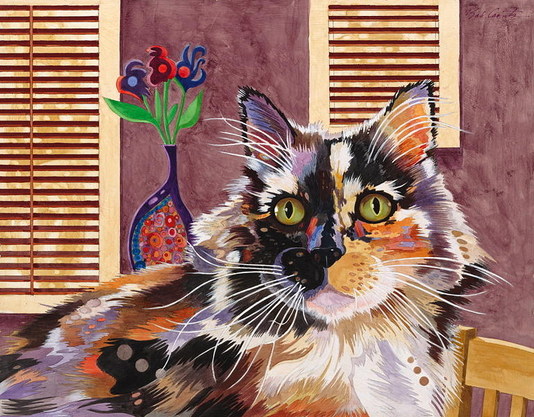 This Cat Was Really Colored Just About Like This. She Really Worked With Me When I Was Photographing Her Painting - Monet by Bob Coonts