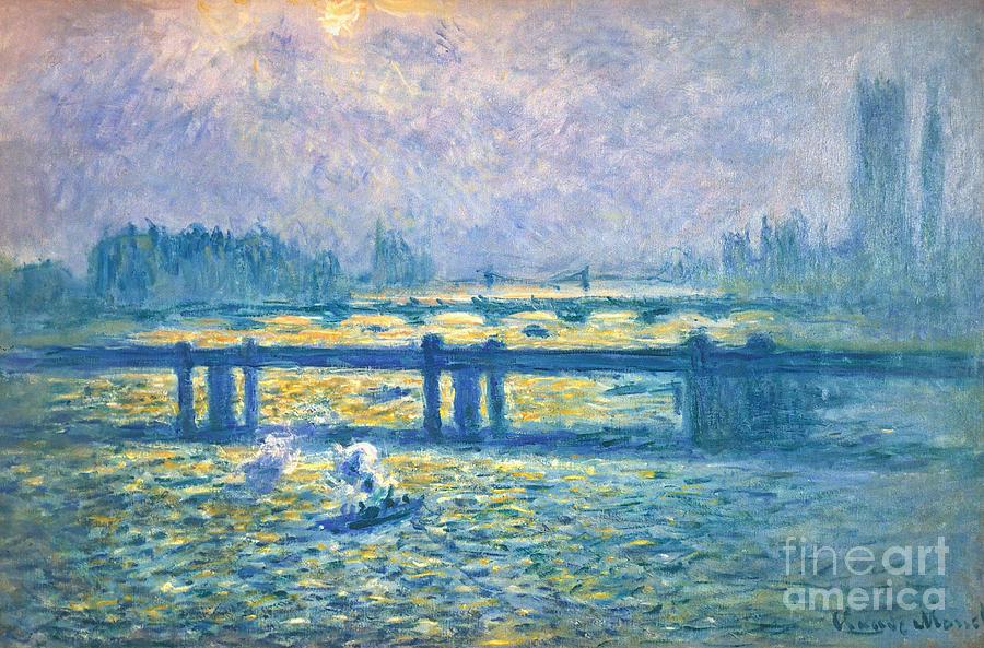 1901 Photograph - Monet: Charing Cross by Granger
