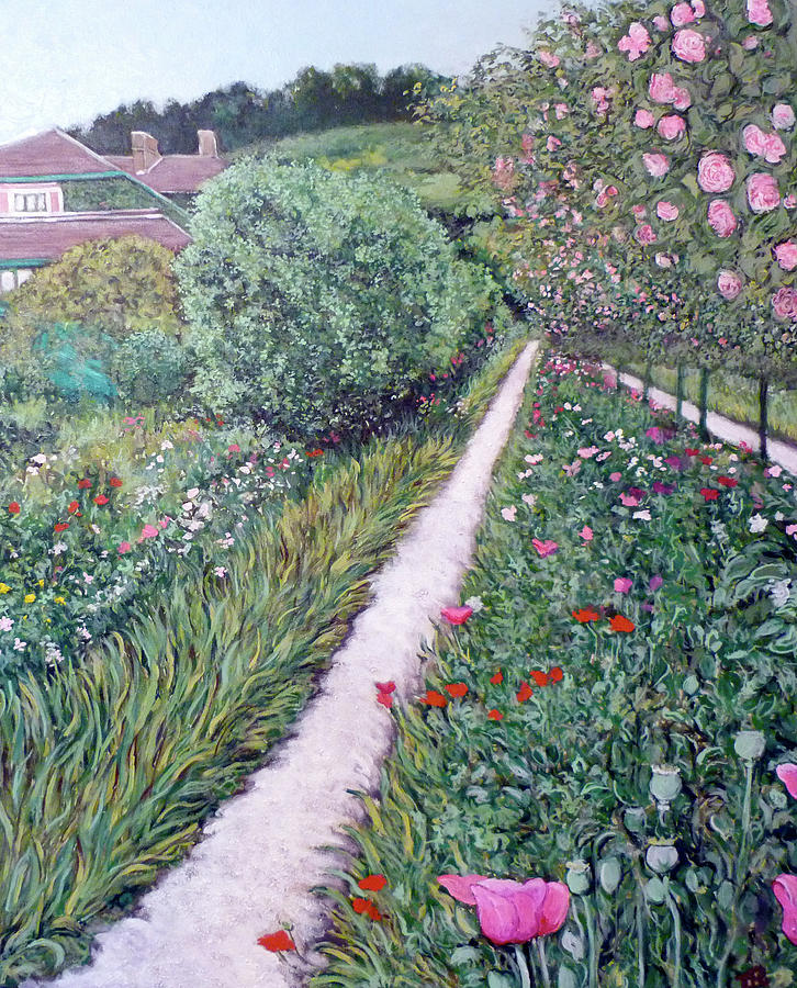 Giverney Painting - Monets Garden Path by Tom Roderick