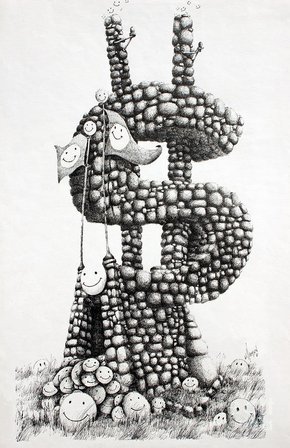 Money Monument Drawing