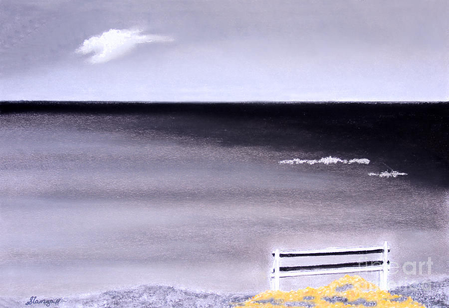 Lonely Bench Painting - Money by Stanza Widen