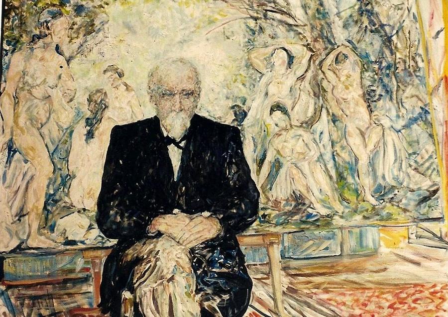 Homage Painting - Monsieur 1905  Homage Cezanne by Caroline Krieger Comings