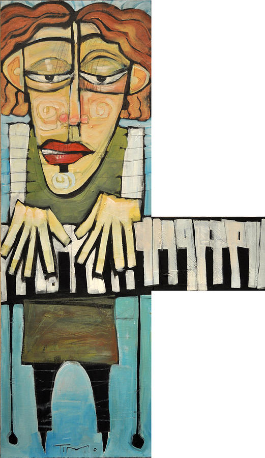 Piano Painting - Monsieur Keys by Tim Nyberg