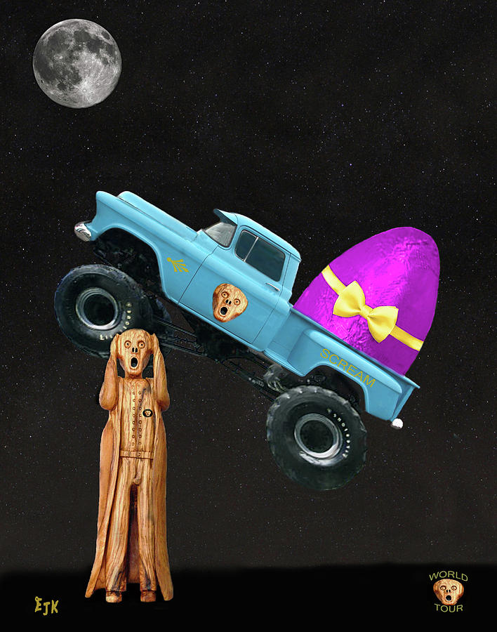 Monster Truck Mixed Media - Monster Truck by Eric Kempson