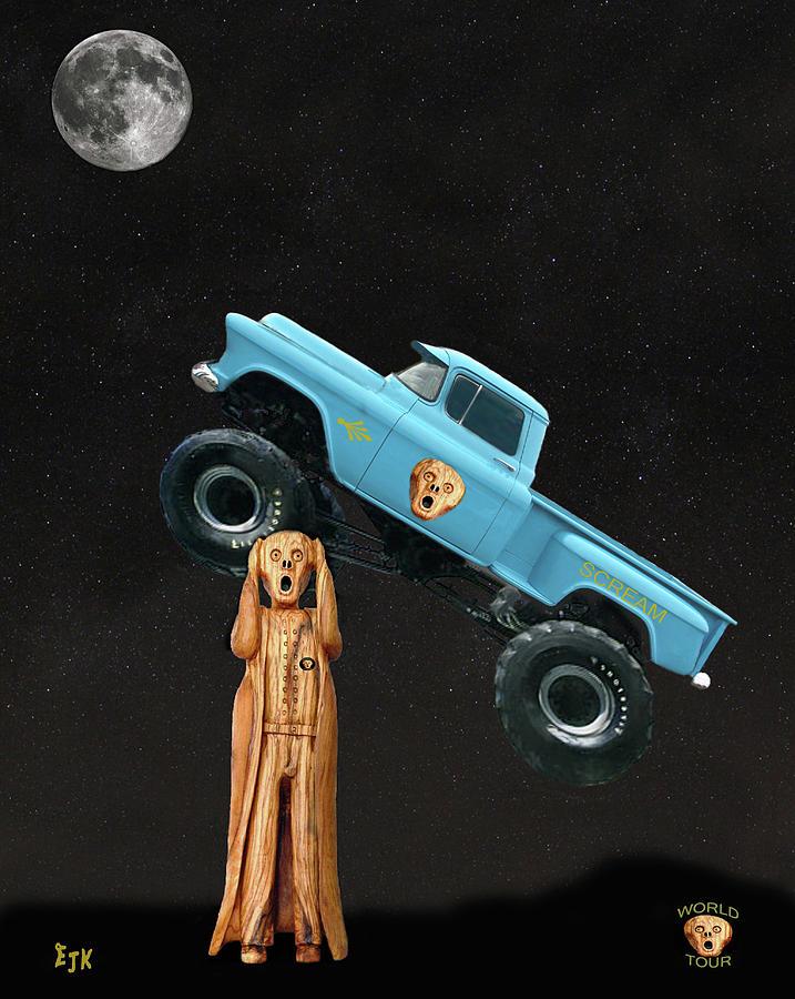 Scream World Tour Mixed Media - Monster Truck The Scream World Tour  by Eric Kempson